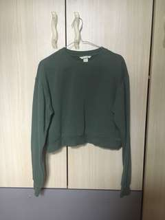 H&M Green Cropped Sweater