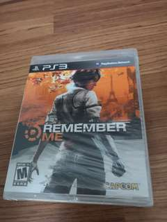 PS3 Game Remember Me (new and sealed)