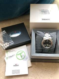tissot t-touch 第一代 綠字 絕版