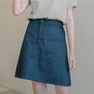 Happymallow Navy Pocket Skirt