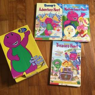 3 Barney Books In A Box