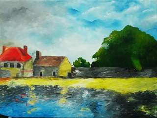 """""""Tuesdays"""" - home decoration (painting)"""