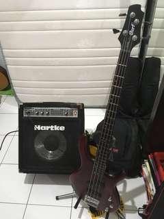 Bass Cort + ampli Hartke A70