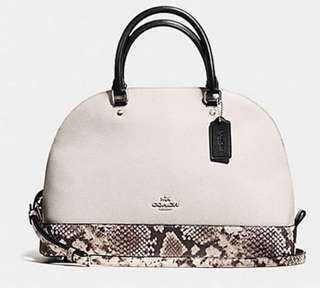 AUTHENTIC COACH F57509 SEIRRA MINI IN SNAKE SKIN EMBOSSED LEATHER