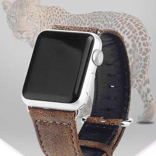 42mm Apple leopard leather strap