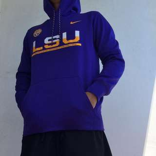 Nike LSU Tigers basketball team therma/warmup hoodie