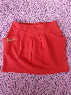 Rok mini merah barbie