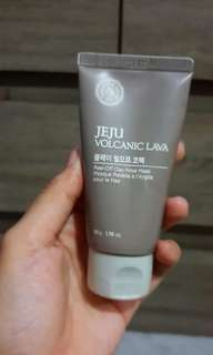 Face shop Jeju Volcanic Peel Off Clay Mask