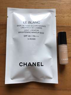 Chanel Le Blanc brightening makeup base Vitalumiere foundation
