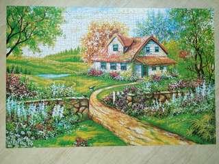 🚚 1000片拼圖秘密花園夢幻花園夢想屋