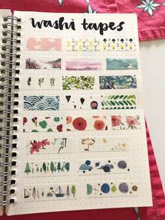 bullet journal washi tape samplers