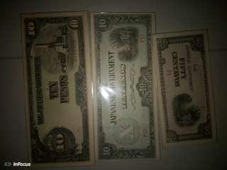 🚚 1940-1950大日本政府鈔票3張