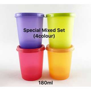 Tupperware Lucky Duo Mixed Set 180ml (4pcs)