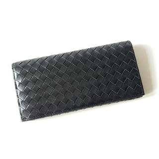 Y187AA 編織牛皮長銀包 Woven Cowskin Leather Wallet