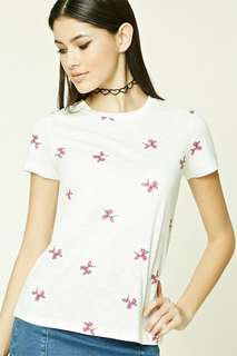 FOREVER 21 BALLOON KNIT TEE TSHIRT WHITE TOP