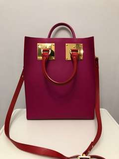 🈹️Sophie Hulme double color tote bag