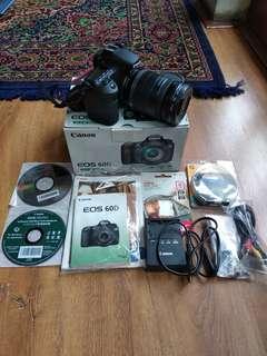 Kamera Canon EOS 60D kit 18-200 IS fullset mulus
