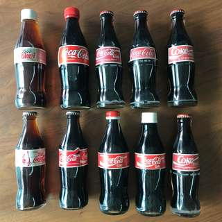 Coke Glass Bottles Unopened Assorted