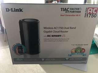 D Link Dual Band router 1750