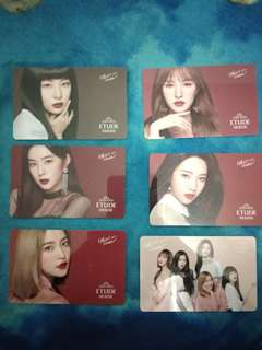 Photocard official red velvet x etude house