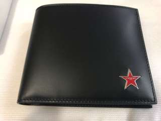 GIVENCHY METALLIC STAR LEATHER WALLET