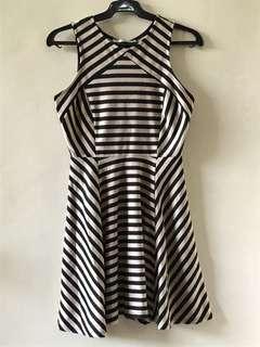 Beige amd Black Stripe Dress