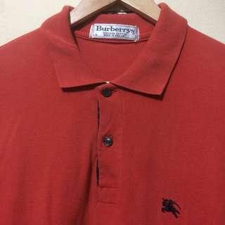 Burberry's Poloshirt made in England Sz L