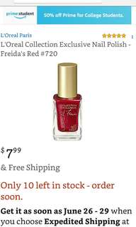 L'Oreal Collection Exclusive (Freida's Red)