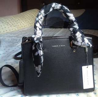 Charles & Keith Ribbon Temperament OL Tote Bag