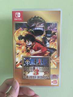 One piece pirate warrior 3 Nintendo switch
