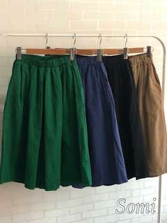 🚚 ✨雙口袋八分寬褲裙✨