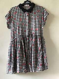 Cherry Gingham Dress