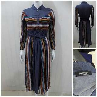 Dress coklat - long dress
