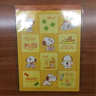 Snoopy peanuts writing notepad