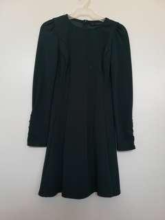 Zara emerald green dress