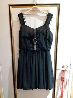 🚚 HIDESAN設計師品牌黑色小洋裝禮服派對m號