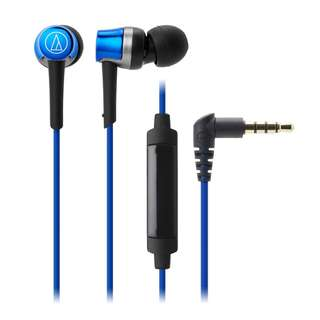 Audio-Technica ATH-CKR30iS SonicFuel In-Ear Headphones with In-Line Mic & Control (Blue)