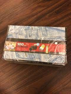 🚚 🆕牛仔風活頁式100入CD收藏盒