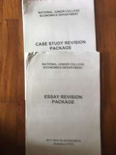 NJC ECONS Case study and essay COMPLETE pack