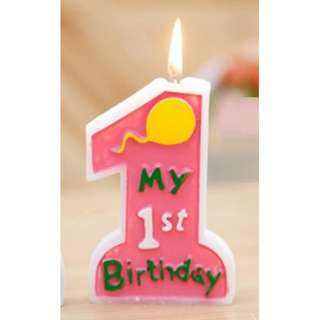 My 1st birthday celebration candle for baby
