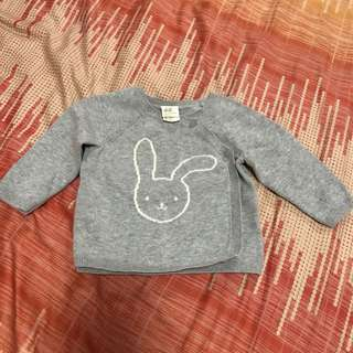 H&M baby sweater grey bunny