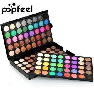 🦋POPFEEL 120 Colors Eyeshadow Palette Makeup Set Shimmer Eye Shadow🦋