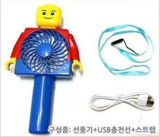 韓國積木人手提風扇