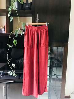 Mango Soft Pants in Rust Colour