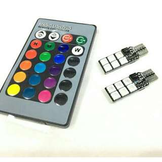 2 pcs T10 (12 LED) 5050 with remote control