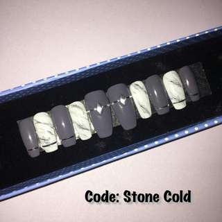 Press On Nails - STONE COLD