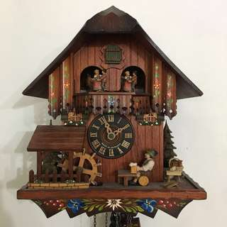 Original Musical Wood Chopper Chalet 1 Day Cuckoo Clock