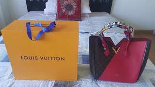 Louis Vuitton Kimono Hand bag in red