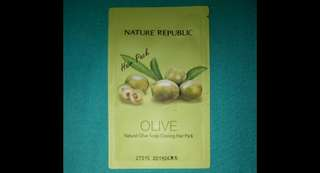 Nature Republic Natural Olive Scalp Cooling Hair Pack