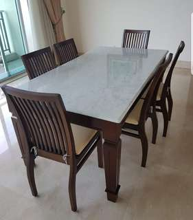 Original marble dining table